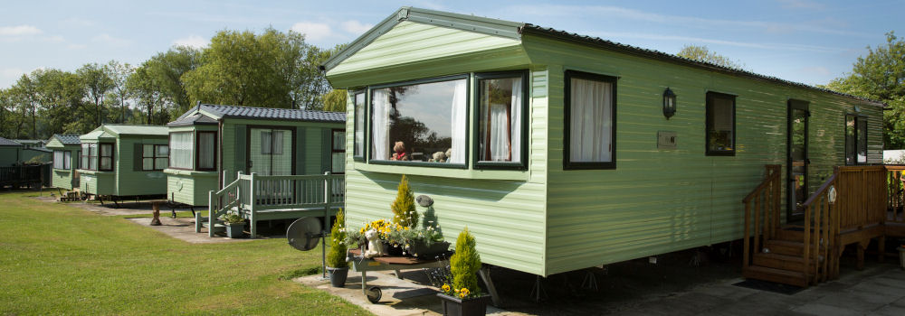 Holiday homes at the Lakeside Holiday Park