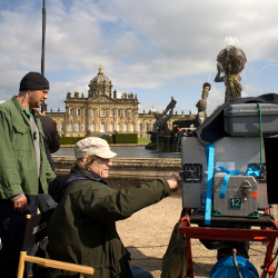 Filming at Castle Howard